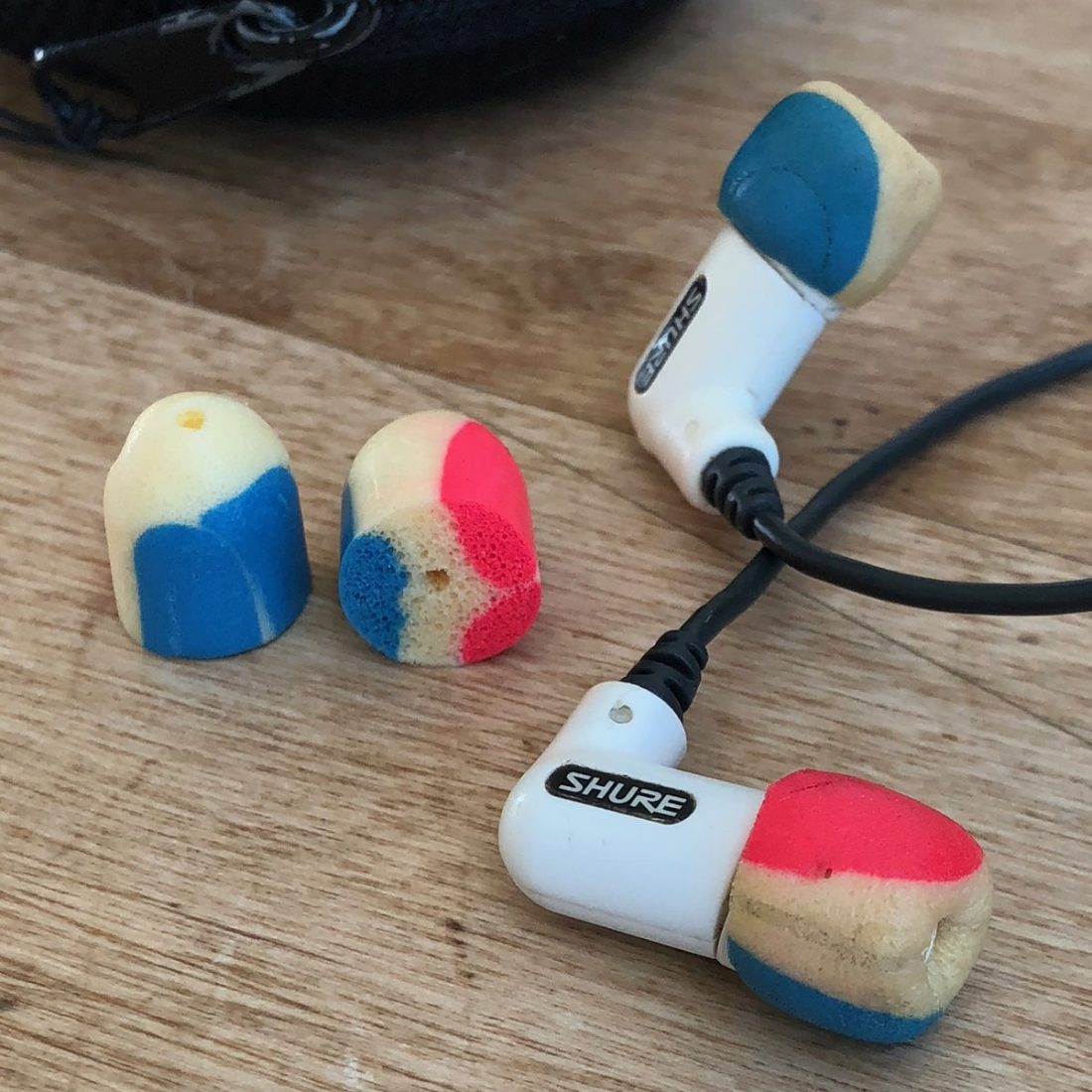 My much loved and used Shure IEMs with DIY ear tips