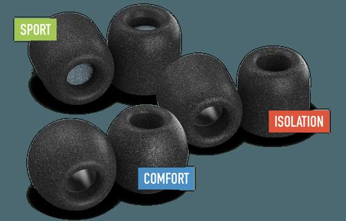 Comply foam ear tips - image from https://www.complyfoam.com