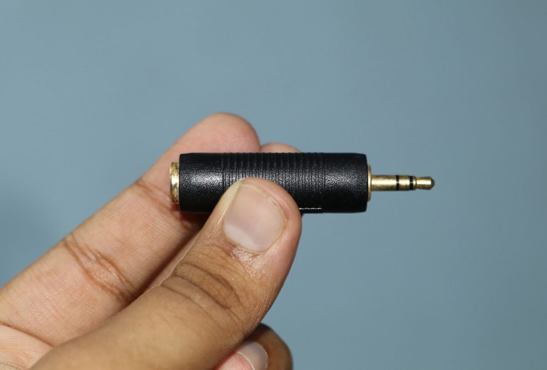 The ¼ inch to 3.5mm adapter