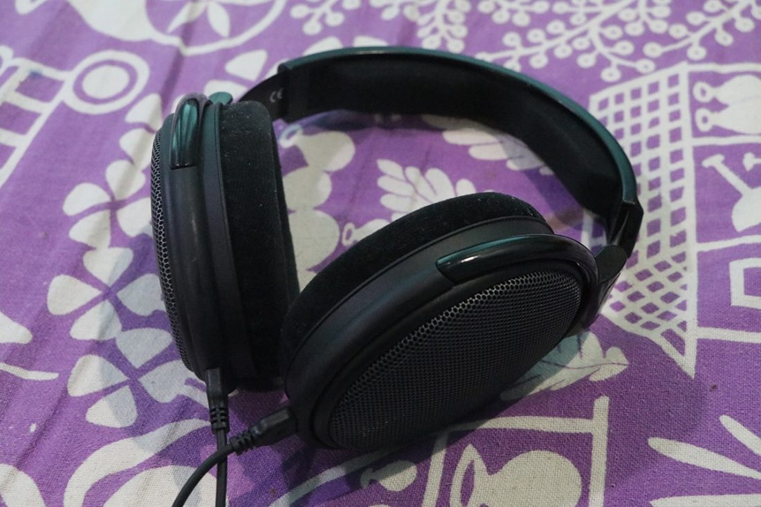 The headphones themselves