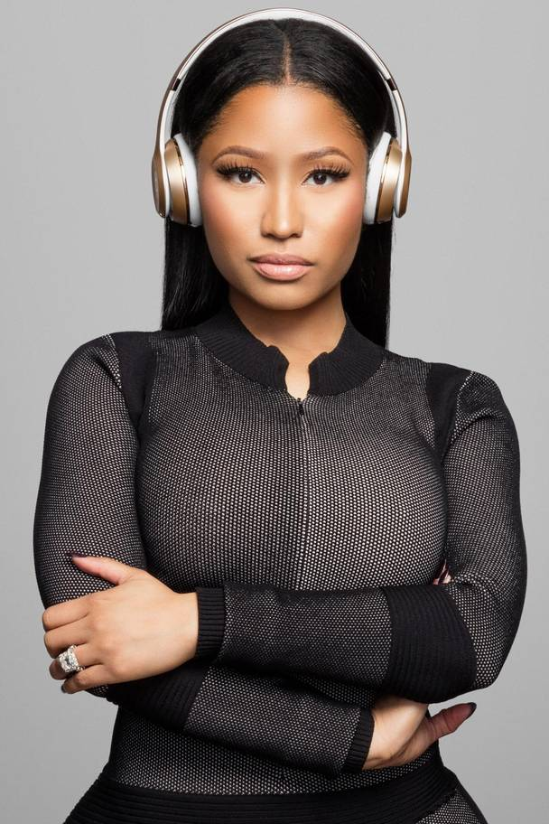 Nicki Minaj wearing Beats Solo 3 Wireless