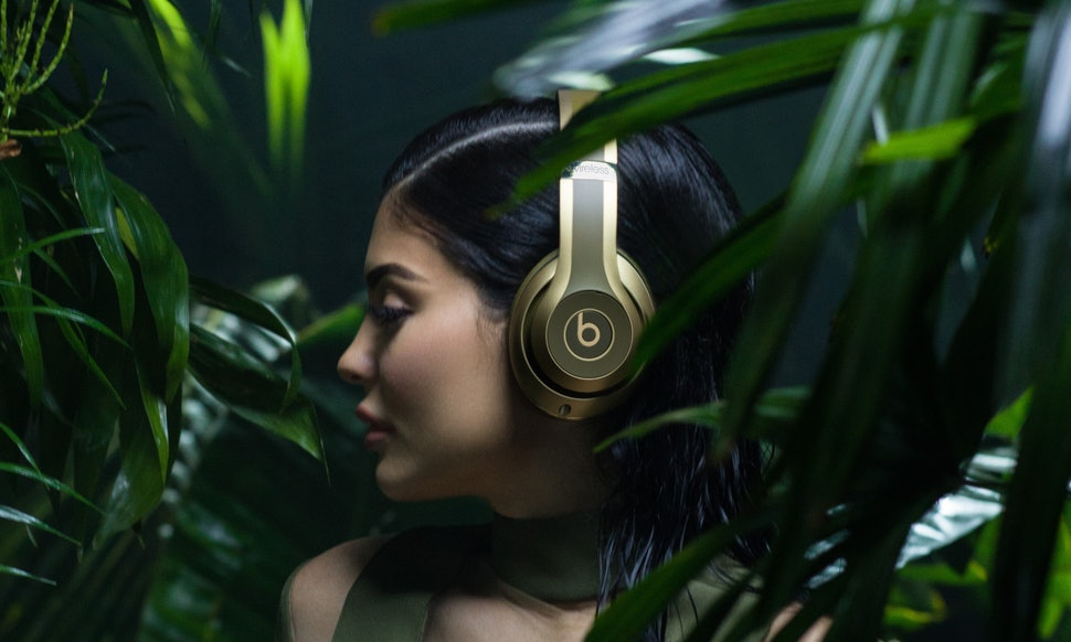 Kylie Jenner wearing Beats Studio Wireless for Balmain