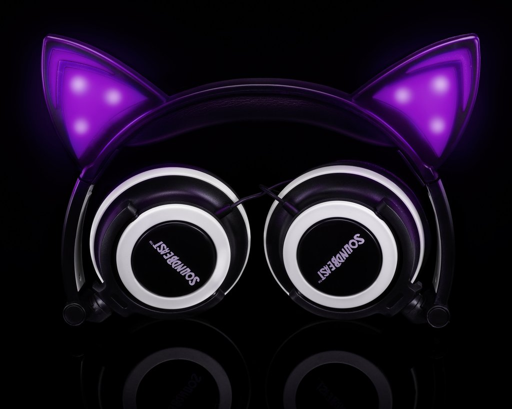 SoundBeast cat ear headphones