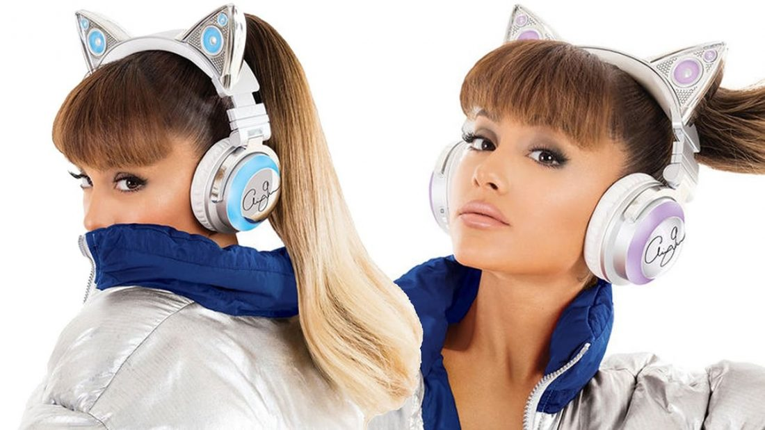 Brookstone Limited Edition Ariana Grande Wireless cat ear headphones