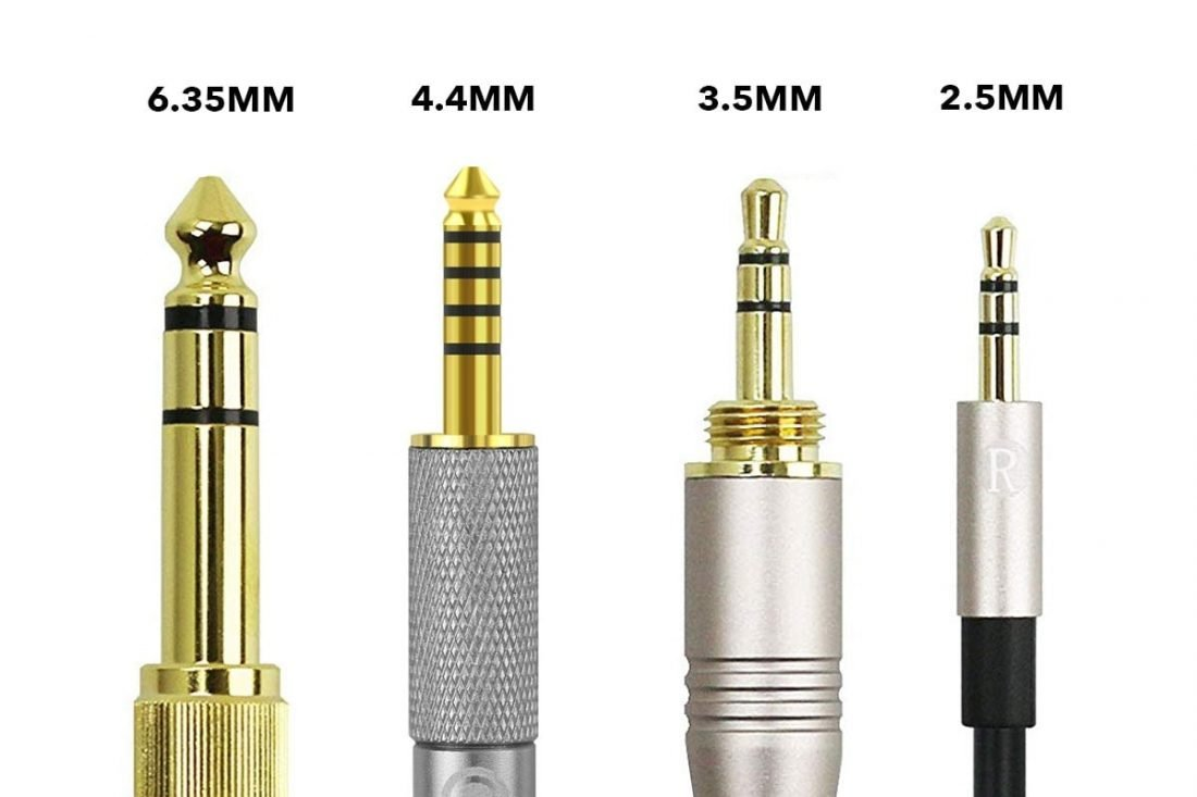 different sizes of headphone jacks/plugs
