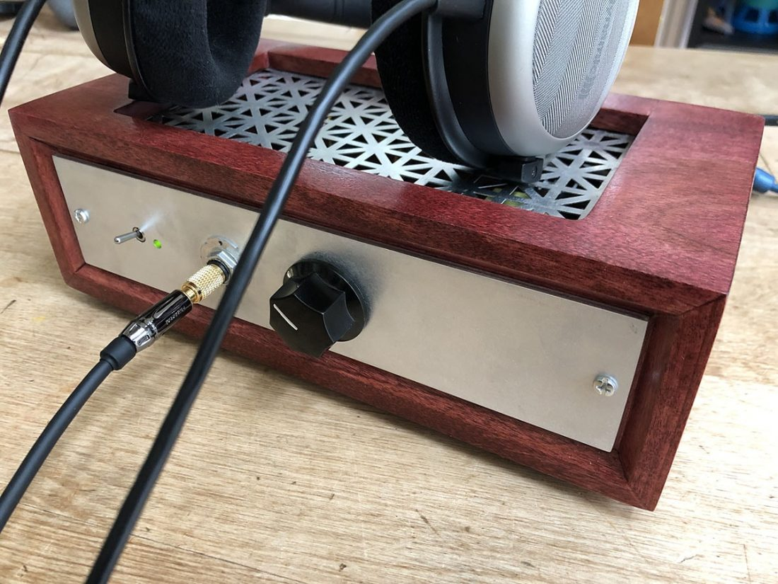 The almost completed case (pre Tone Board LED) and Beyerdynamic T1 (version 1) headphones.