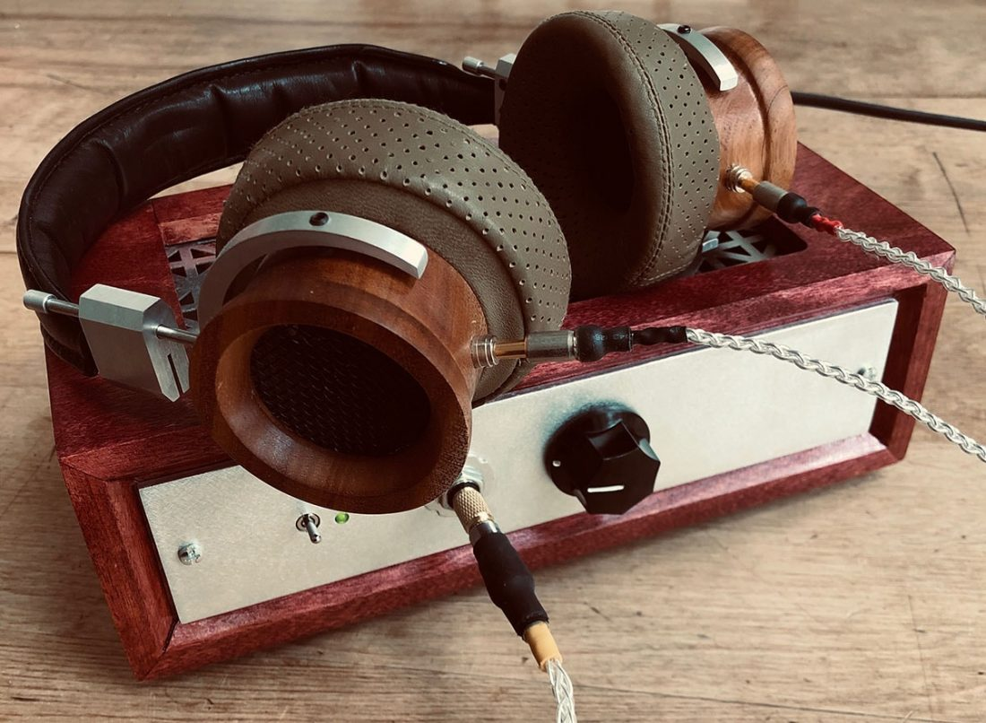 Custom DIY Grado clones and the wooden encased NuHybrid look good together.