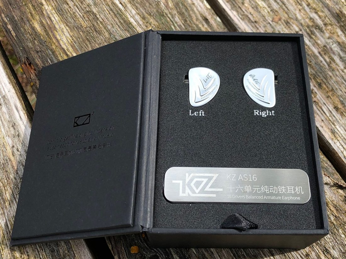 Open up the cover of the box and in typical KZ fashion, the IEMs are nestled in foam with accessories underneath.