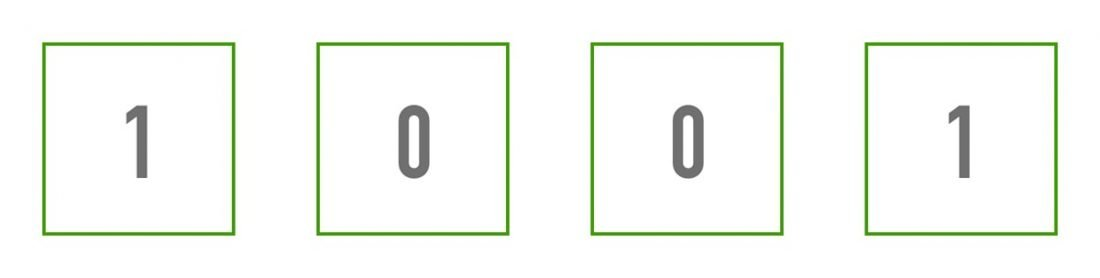 A 4-bit binary number. Quiz Time: What does the above binary represent?