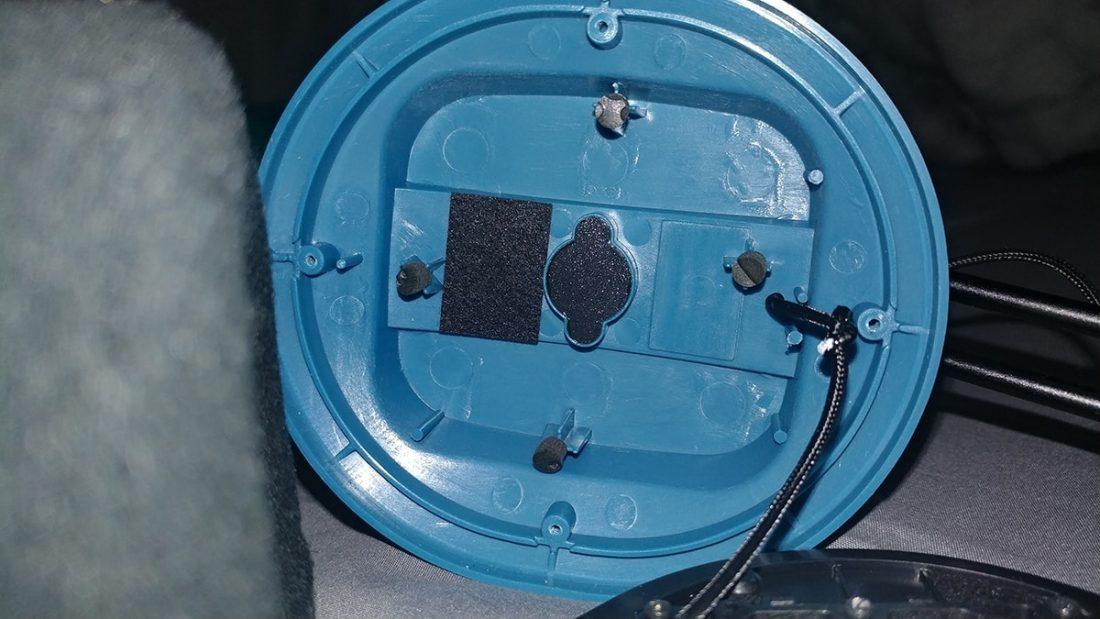 A Dekoni Blue empty cup.