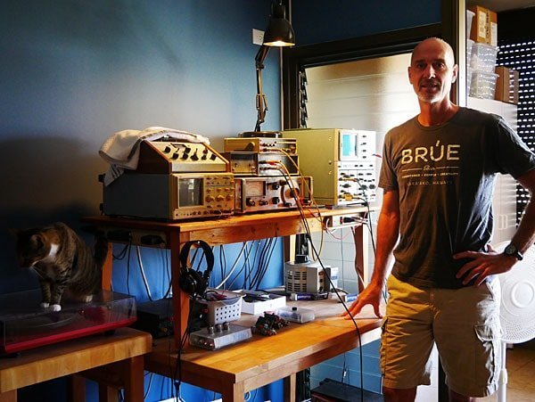 Jim in his lab from Stereophile.