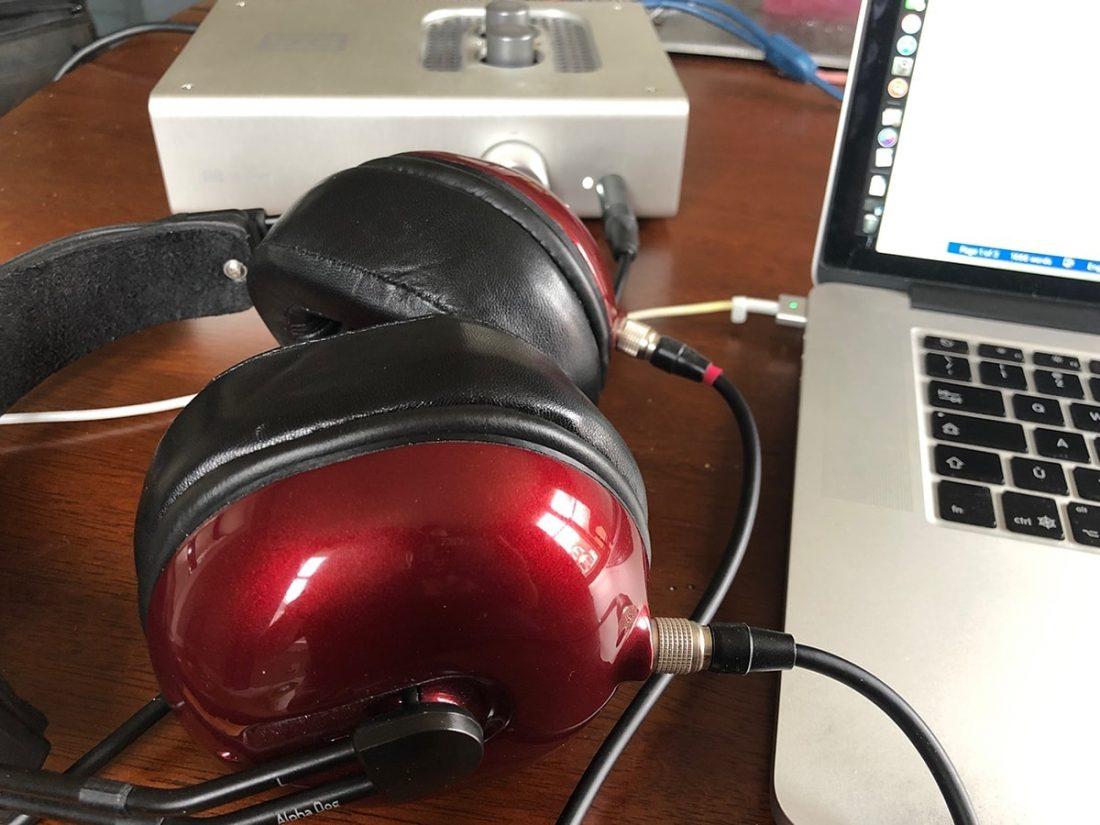 My MrSpeakers Alpha Dogs powered by a Schiit Lyr.