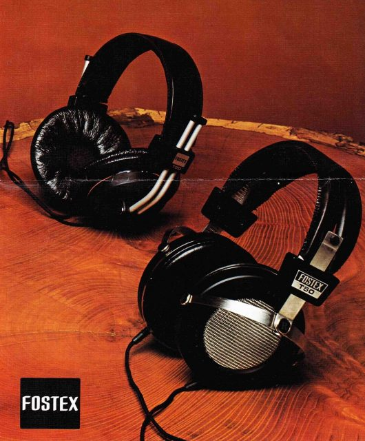 The first generation Fostex T20 and T50 from the late 1970's brochure.