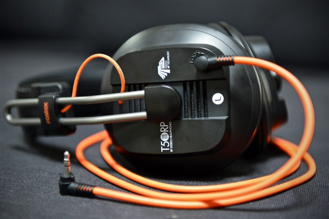 The stock T50RP mk2 and orange cable from Head-Fi.