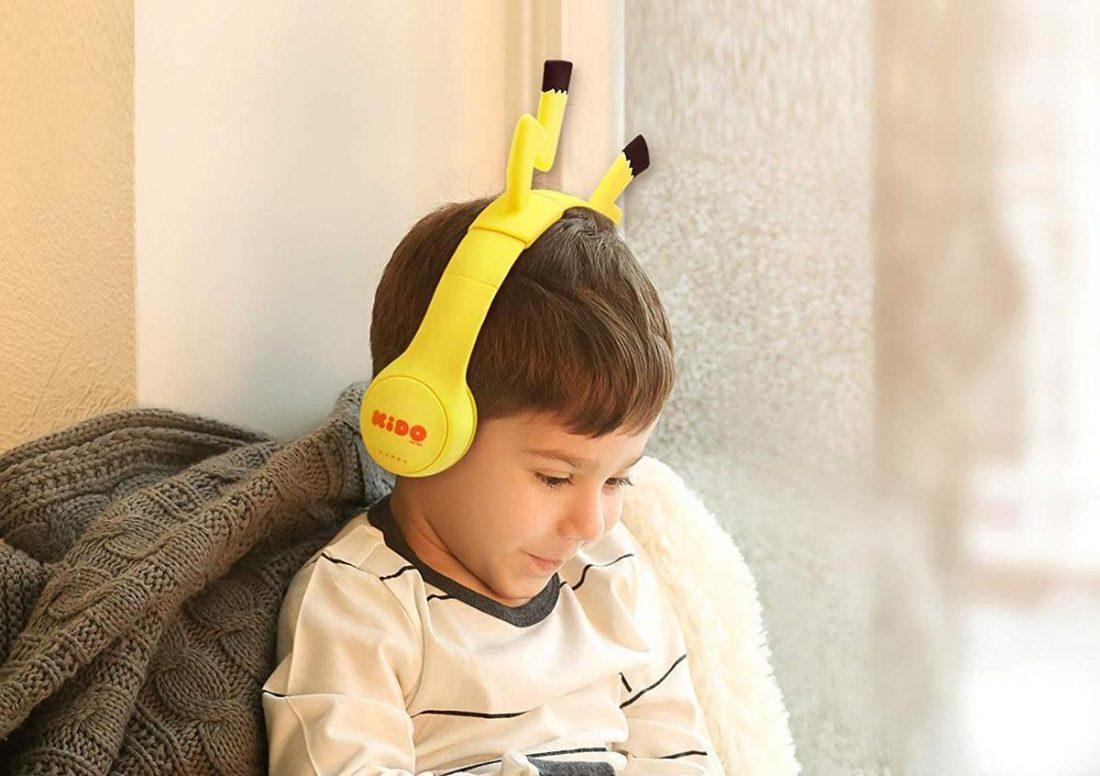 Kid wearing Volibolt Headphones