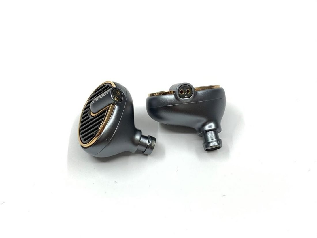 The non-recessed 2 pin connector on top of the shell.