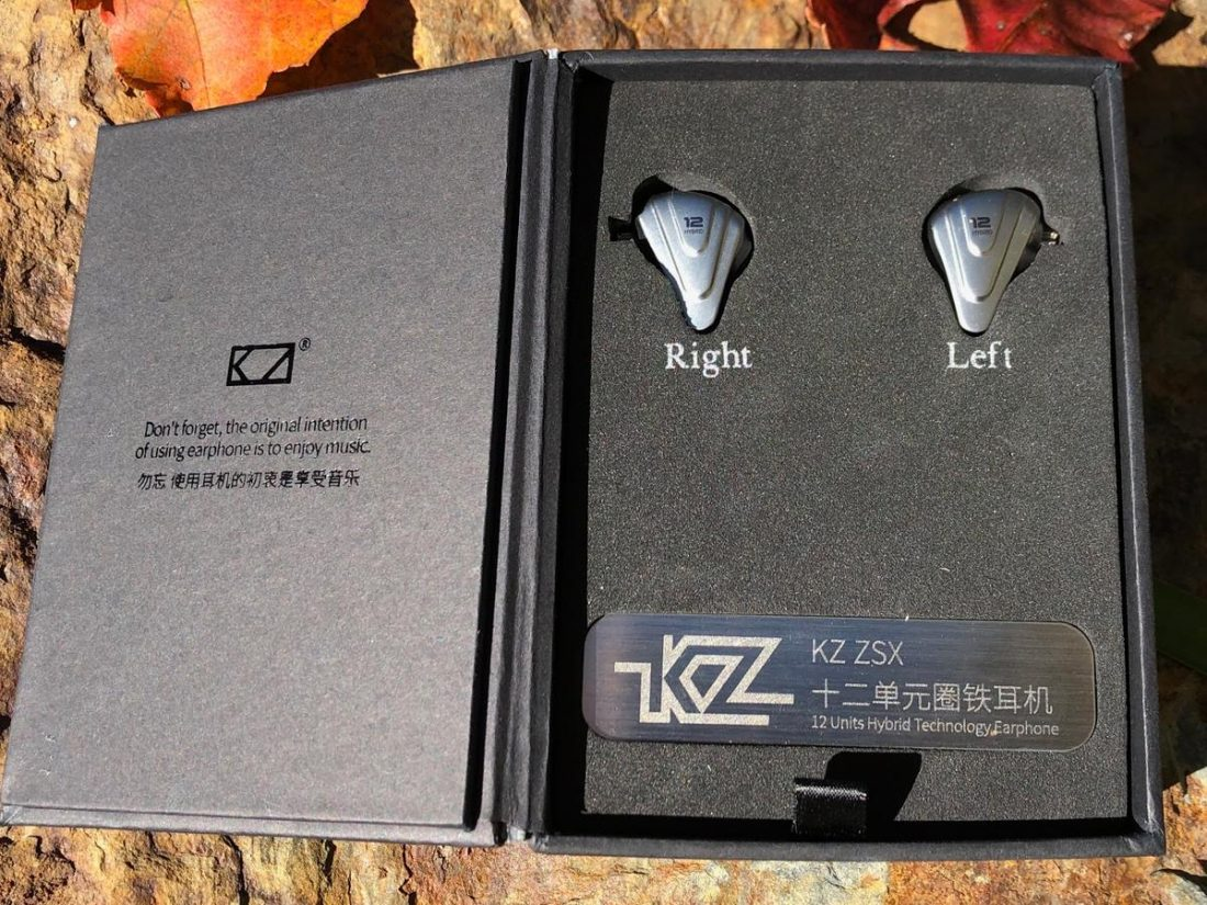 The standard small black KZ box.