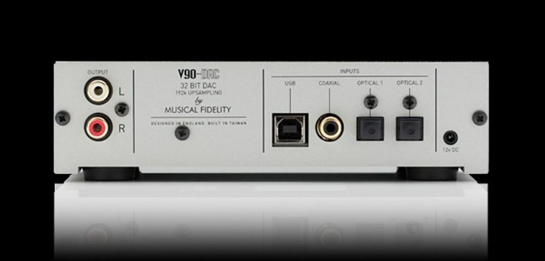 USB, coaxial and two optical digital inputs on the V90. (From: musicalfidelity.com)