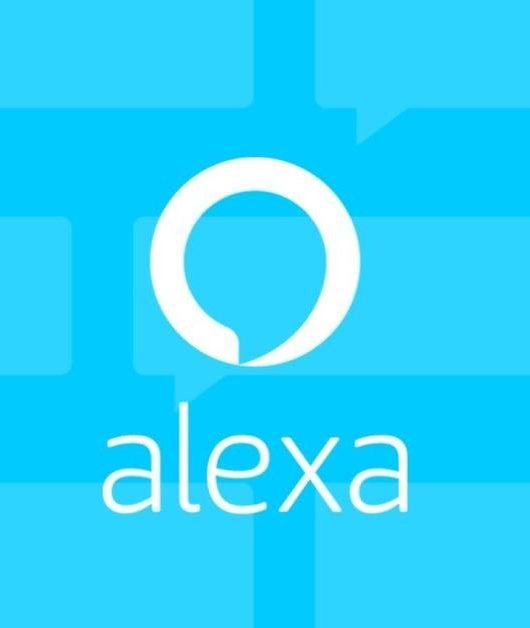 The logo of the Alexa app. It is estimated that it has hit 10 million downloads on Google Play. (From Amazon)