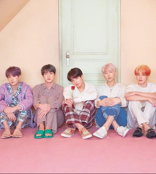 "BTS is an acronym of Bangtan Sonyeondan or ""Beyond the Scene."" The members of the group are RM, Jin, SUGA, j-hope, Jimin, V and Jung Kook. (From BTS' official website)"