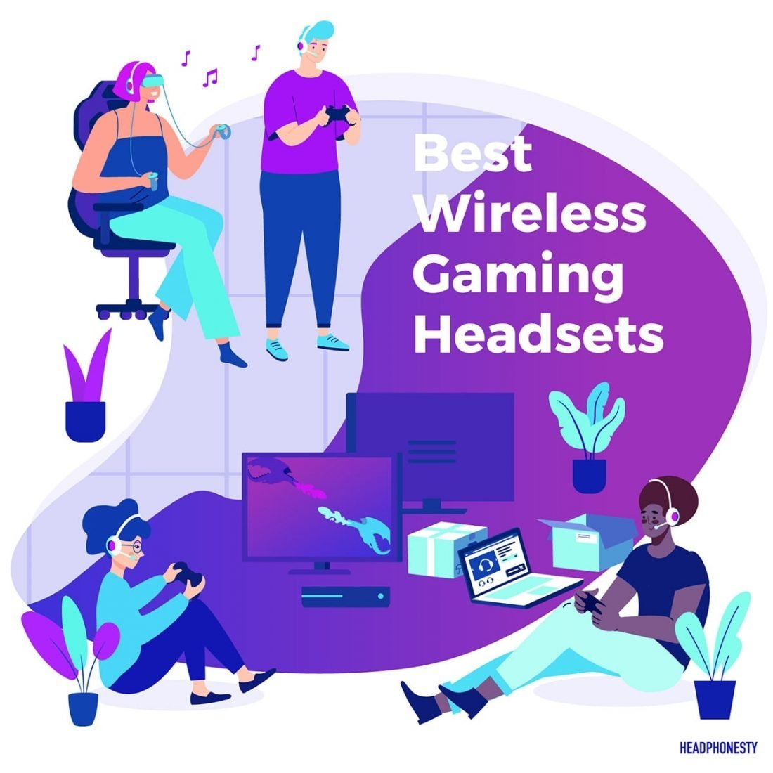 2020 11 Best Wireless Gaming Headsets For Pc Ps4 Xbox One Headphonesty