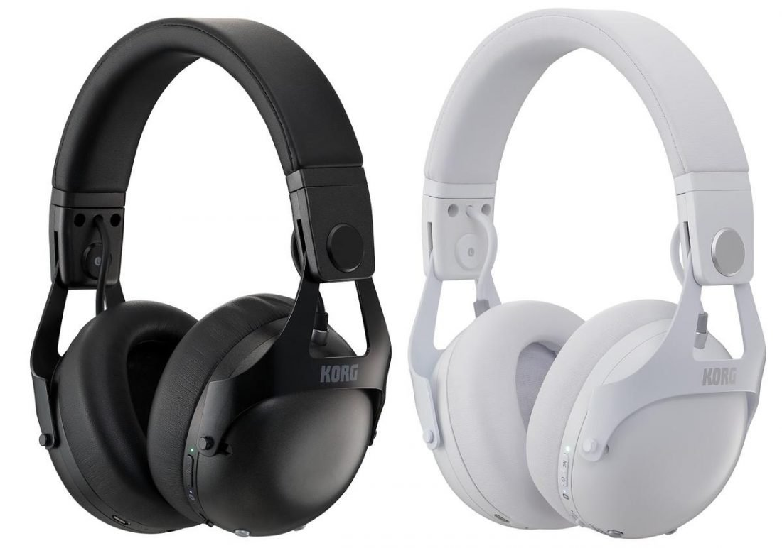 Black and White NC-Q1 Headphones (from korg.com)