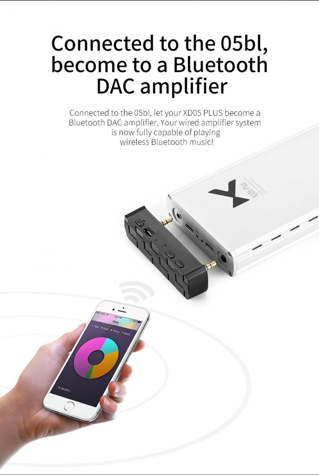 The Bluetooth add-on modules are unfortunately not color matched for the XD05 Pro. (From en.xduoo.com)