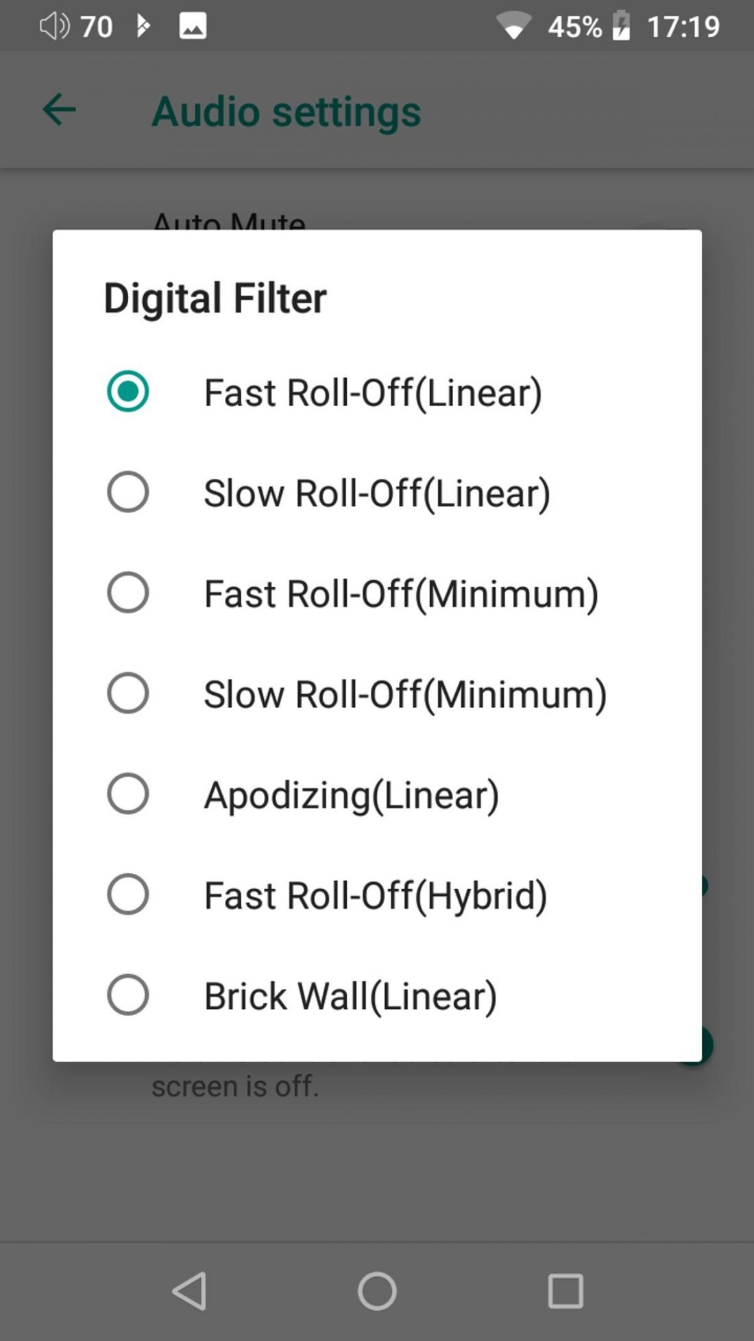 Digital filter for ESS Sabre DAC