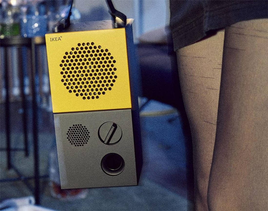 IKEA FREKVENS Bluetooth speaker on the go (From: IKEA)