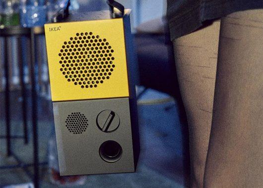IKEA FREKVENS Bluetooth speaker on the go (From: IKEA)