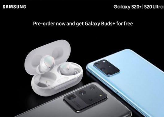 Leaked image of the Samsung Galaxy S20+ and Galaxy Buds+ bundle (From: Evan Blass)
