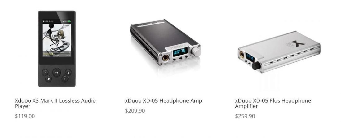 Note the differences in the spelling of 'Xduoo' and 'xDuoo' on side-by-side products. (From xduoo.net)