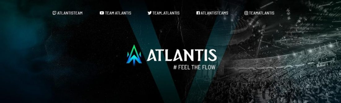 The logo of Vilnius-based Team Atlantis. One of Europe's top e-sports brands focused on the online game Fortnite, Team Atlantis expects its deal with Audio Technica to give players the leverage they need with the audio maker's high-end audio equipment, while also treating fans to a new range of high quality products. (From Team Atlantis' LinkedIn profile)