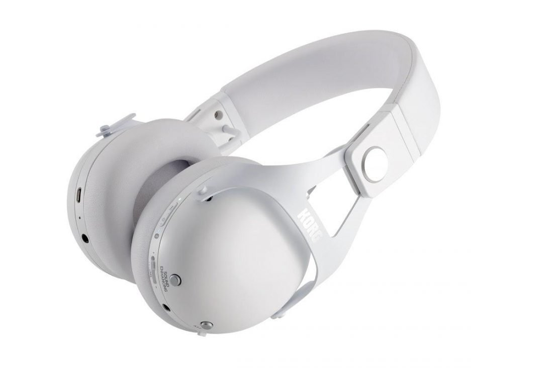White NC-Q1 Headphones Lying Down (from korg.com)