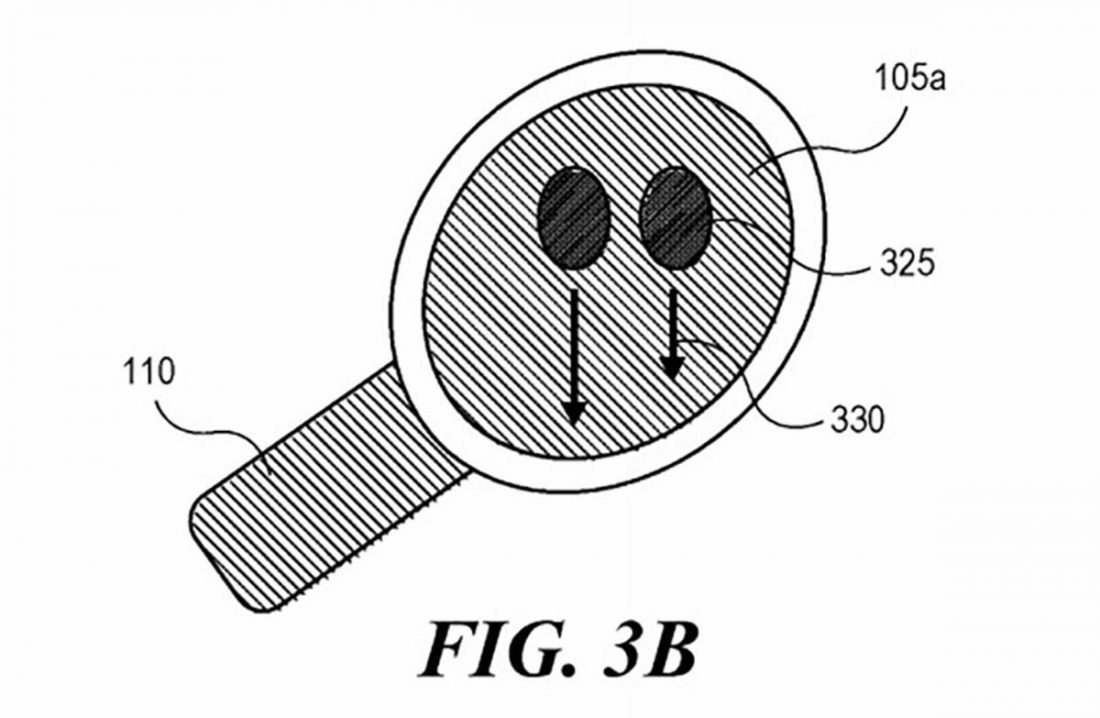 Integrated sensors would detect the orientation of the headphones and adjust your gestures accordingly (From: Apple)