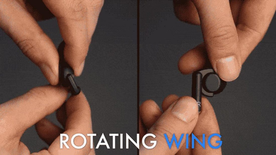 You can take the earbuds from wrist to ear with a simple twist (From: Wristbuds)